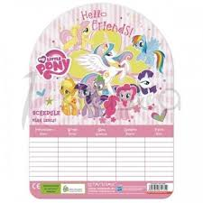 Plan lekcji My Little Pony