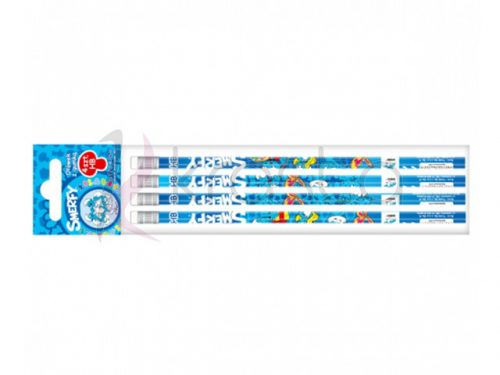 Ołówek z gumka  PBH 4 szt Starpack