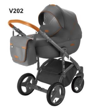 Wózek Massimo Eco skóra 2w1 Adamex
