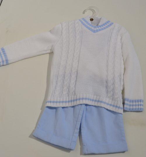Komplet sweterek koszula +spodnie sztruksowe