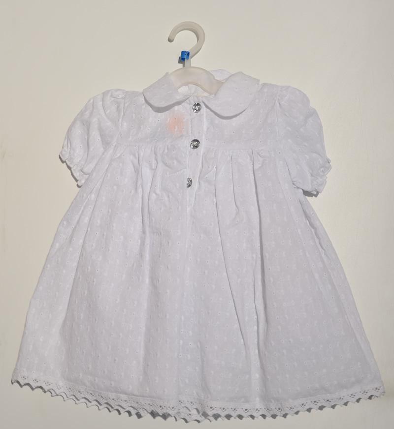 Biała sukienka do chrztu Krasnal