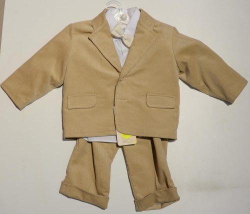 Sztruksowy garnitur dla chłopca  sponie marynark a+ koszula Krasnal