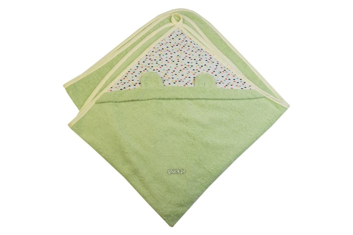 Okrycie niemowlęce Trójkąty zielone Gluck