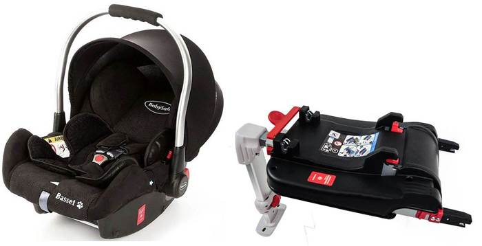 Fotelik samochodowy 0-13 kg z isofixem Basset BabySafe + baza isofix