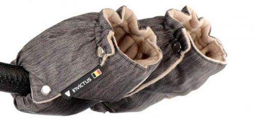 Rękawiczki - muffki do wózka Invictus V-Plus z polarem
