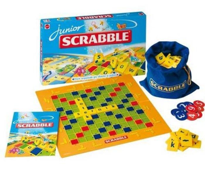 Dwie słowne gry Scrabble Junior Mattel 2 w 1