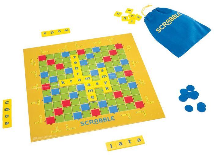 Scrabble Junior 2w1 gra słowna dla młodszych dzieci Mattel Y9735