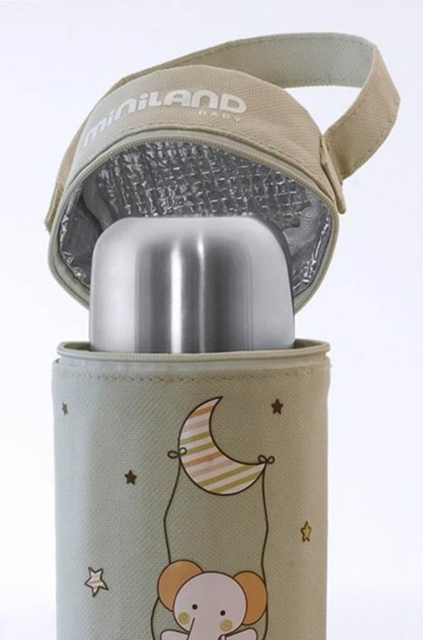 Miniland Termoopakowanie na termos/butelkę 330ml - beżowy