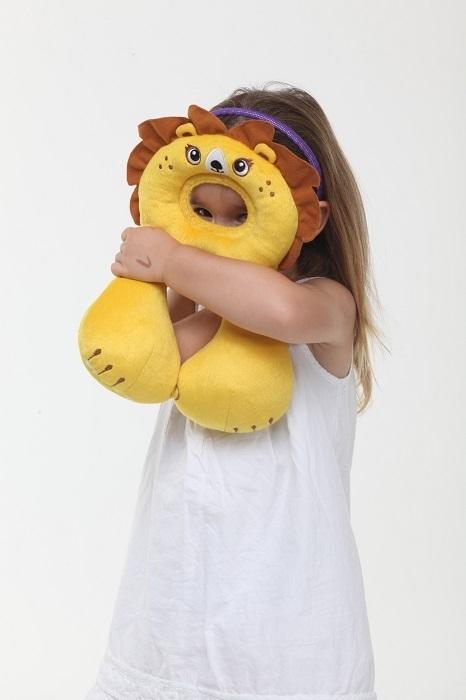 Zagłowek poduszka podróżna dla dzieci od 1-4 lat Lew Ben Bat