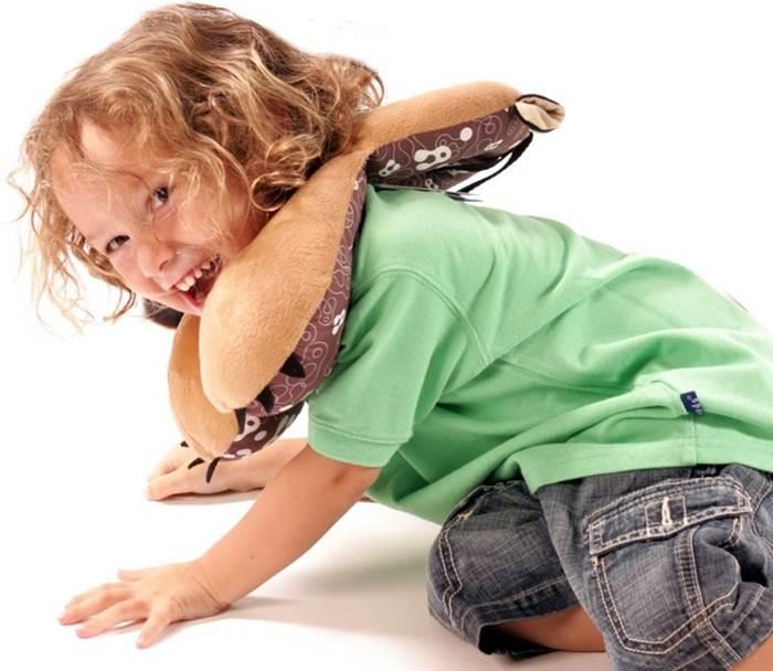 Zagłówek dla dziecka poduszka do fotelika samochodowego zapobiega opadaniu głowy dziecka w podróż 4-8 Lat Dog Benbat