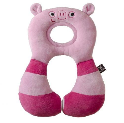 Zagłowek poduszka podróżna dla dzieci od 1-4 lat świnka Ben Bat
