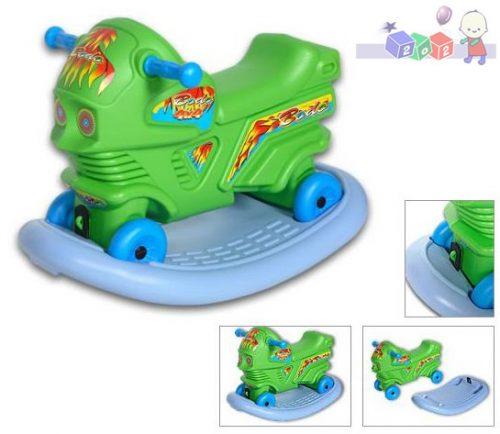 Jeździk motor dla dzieci z możliwością bujaka