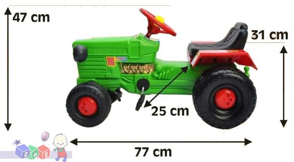 Traktor na pedały z przyczepą mega zestaw