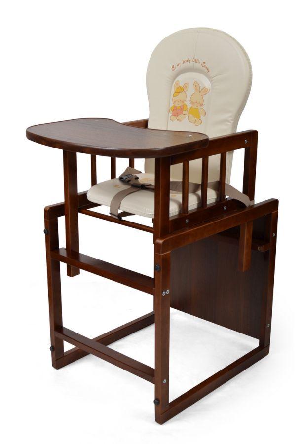 Eliza Tomi krzesełko do karmienia dla dzieci i niemowląt kolor orzech