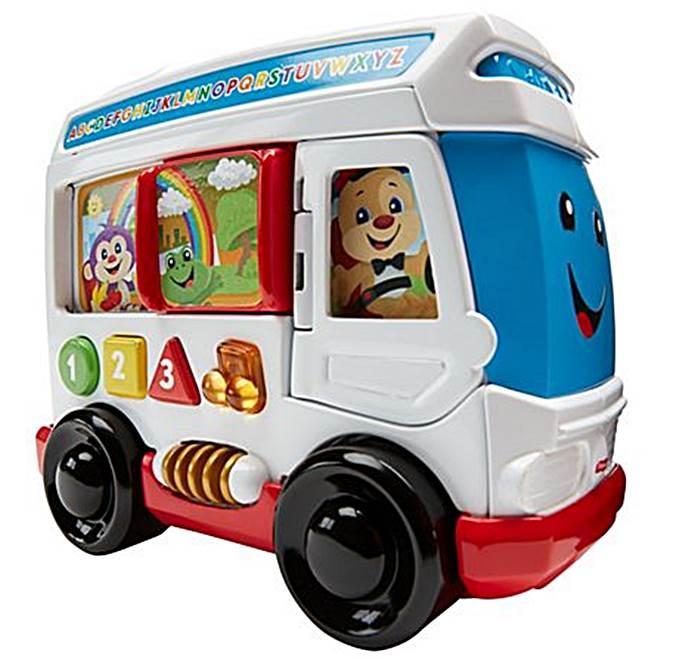 Fisher Price - autobus szczeniaczka - gra, świeci i mówi w j. polskim