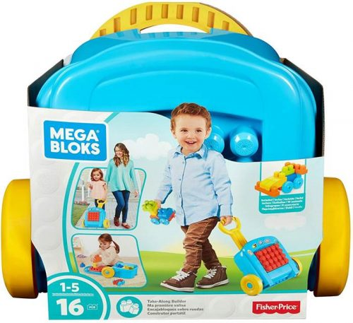 Mobilna walizka z klockami Fisher Price Mega Bloks FLT37