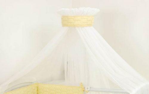 Amy baldachim żółty do łóżeczka z serii Pingwiny