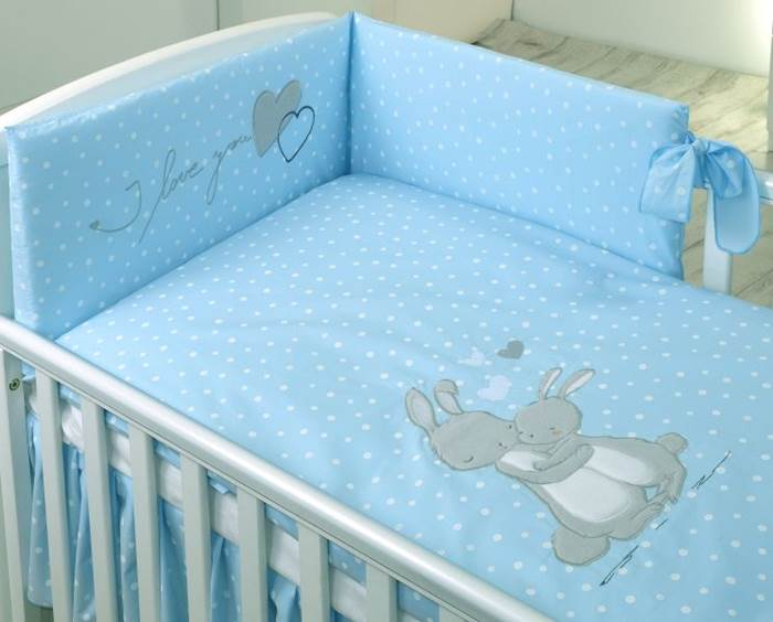 Amy Komplet pościeli 2-elementy My Little Bunny niebieskie