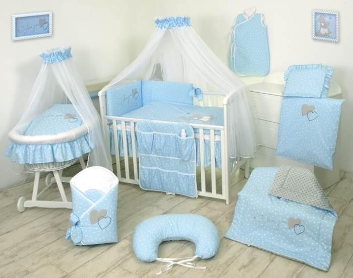 Amy Komplet pościeli 3-elementy My Little Bunny niebieskie