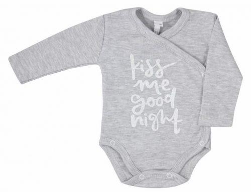 Body rozpinane dla niemowląt Kiss Me Koala Baby_68_Szary Kiss