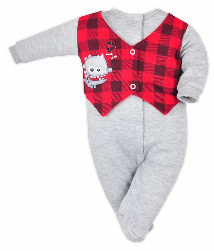 Pajac niemowlęcy Koala Baby Monster_74_Szary