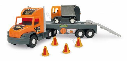 Super Tech Truck Laweta ze śmieciarką Wader