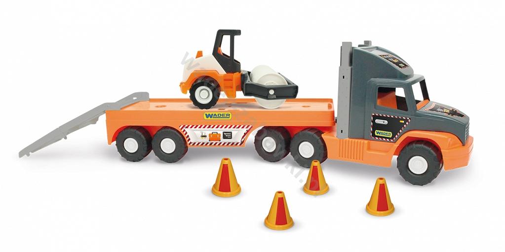 Super Tech Truck Laweta z walcem Wader