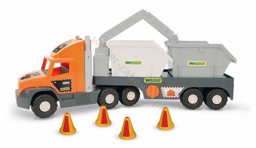 Super Tech Truck Laweta z kontenerami budowlanymi Wader