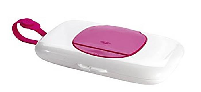 Oxo pojemnik podręczny na mokre chusteczki - różowy