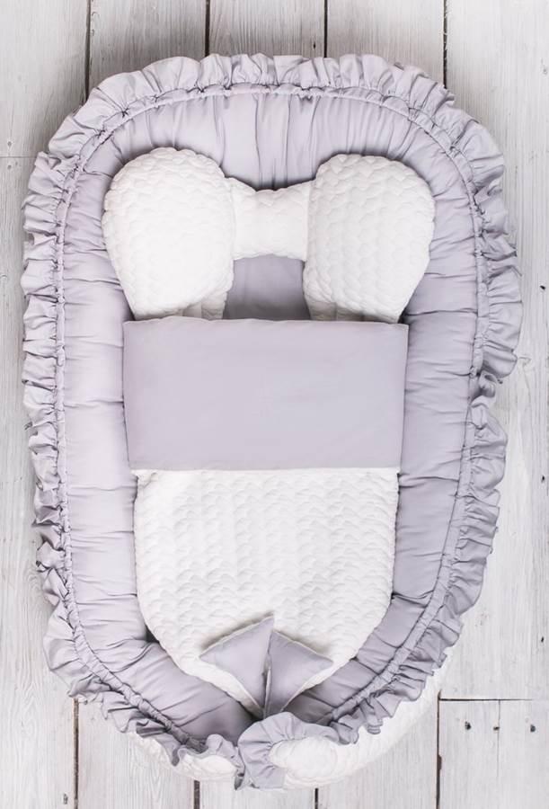 Belisima Luksusowy kokon z kołderką, otulacz, gniazdo niemowlęce Króliczek Minky