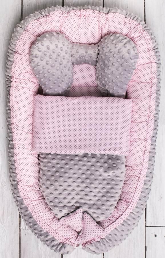 Belisima Kokon z kołderką, otulacz, gniazdo niemowlęce Sweet Baby Minky