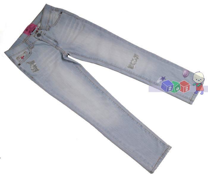 Proste spodnie jeansowe dla dziewczynki rozmiar_122-128