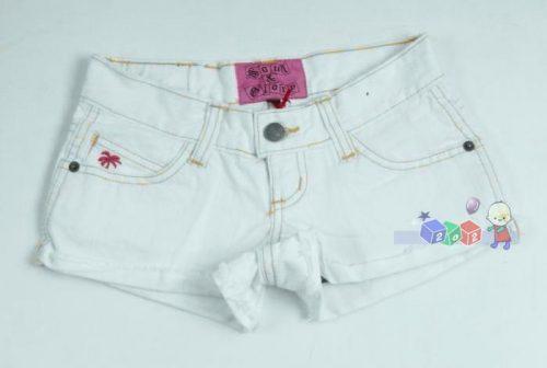 Jeansowe szorty dziewczęce białe rozm. 146-152