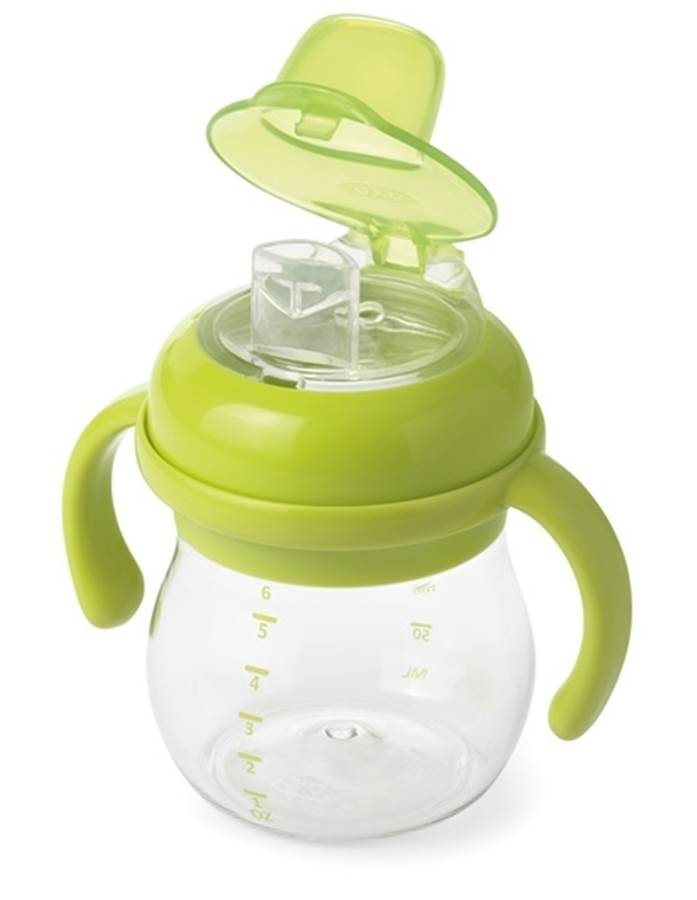 Oxo Tot Transitions kubek miękki ustnik 150ml 4m+ Zielony