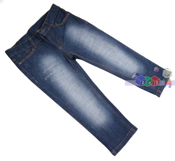 Jeansowe spodnie dziewczęce rozm 122-128