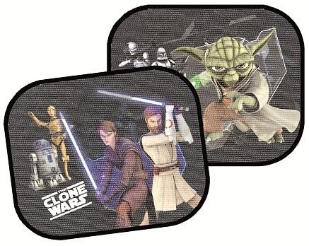 Samochodowa osłona przeciwsłoneczna 2 sztuki Yoda, Star Wars