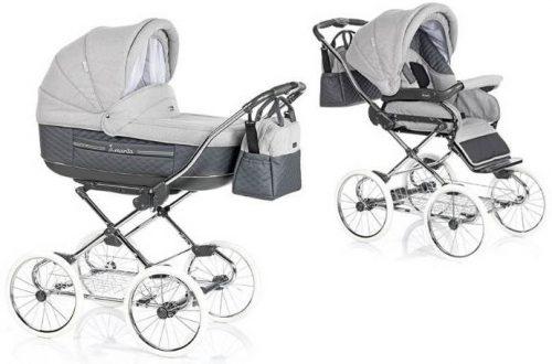 Marita Prestige - wózek głęboko spacerowy w stylowych kolorach + nowa elegancka torba najwyższa opcja