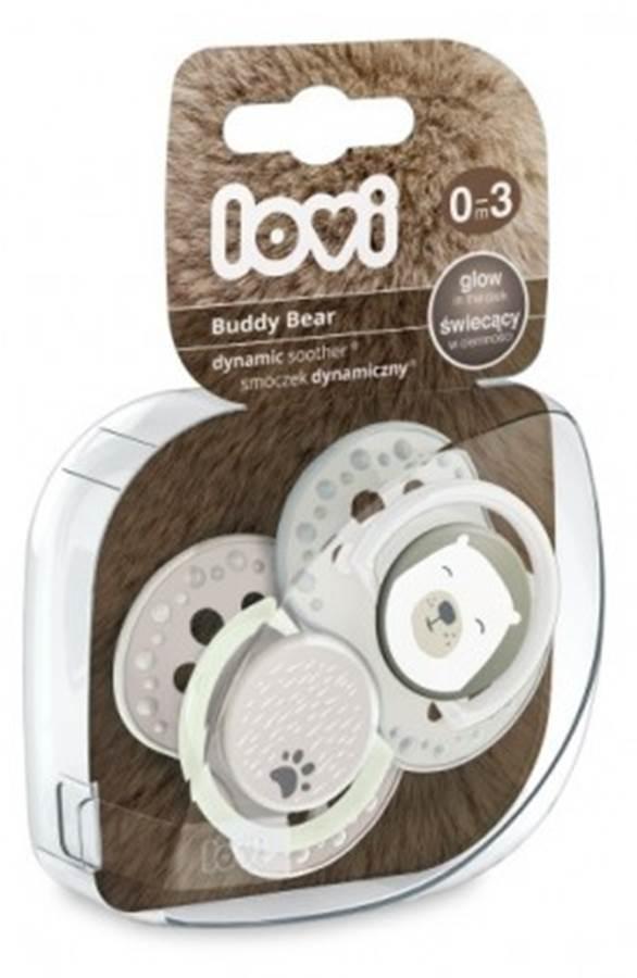 Smoczek silikonowy 0-3 m. 2 szt. Buddy Bear Lovi