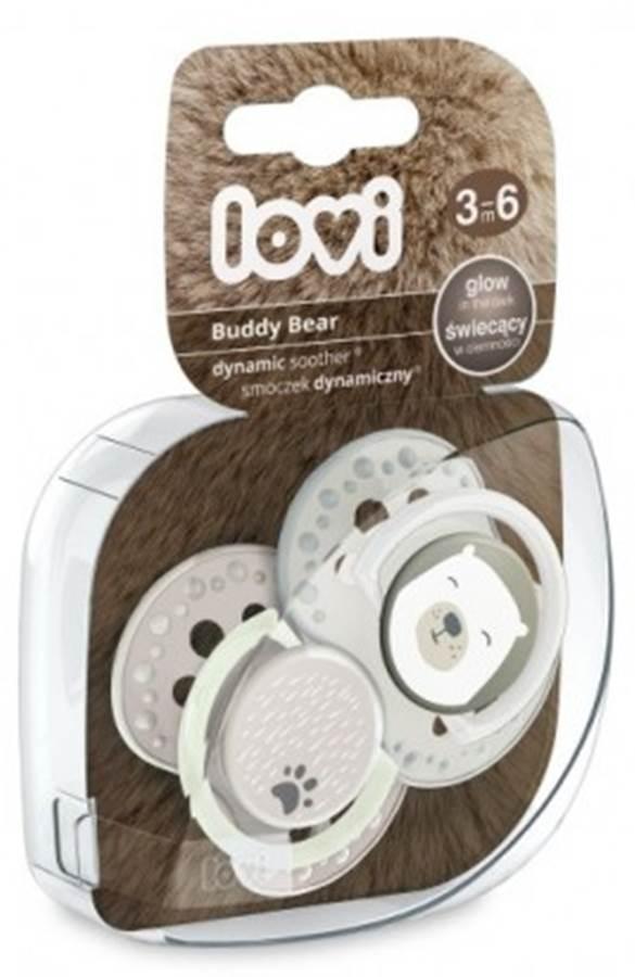 Smoczek silikonowy 3-6 m. 2 szt. Buddy Bear Lovi