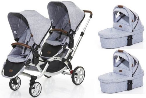 Wózek bliźniaczy głęboko-spacerowy jeden za drugim Zoom Abc Design