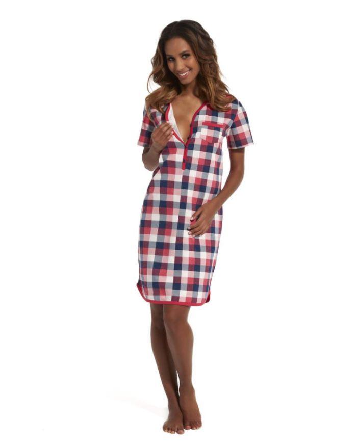 Koszula nocna dla kobiet karmiących i ciężarnych Elena 2, Cornette