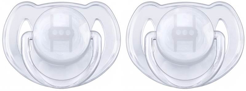 Smoczki do uspokajania 6-18 miesięcy Avent Transparentny bez BPA - 2 sztuki  SCF170/22