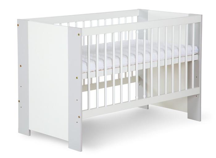 Dziecięce łóżeczko z drewna sosnowego i płyty MDF 120x60 cm Klupś Safari De Luxe
