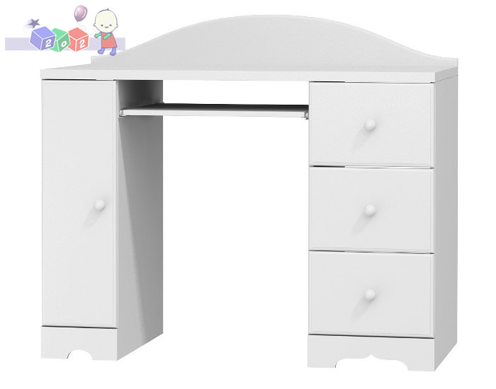 Biurko dla dziecka z 3-szufladami i szafką 102x126x60 cm, Baby Best