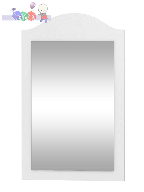 Lustro ścienne z kolekcji Clasic w białej ramie 80x50 cm, Baby Best