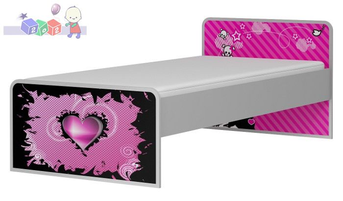 Powiększane łóżko 200x120 Beby Best kolekcja Emo