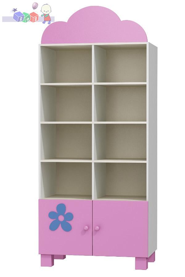 Regał meblowy z przegrodą 208x90x52 cm Baby Best - kolekcja Flower