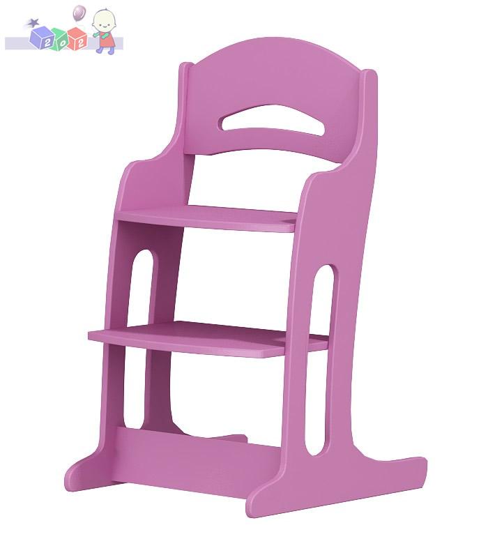 Krzesełko drewniane do karmienia dla dzieci 2-12 lat z podnóżkiem
