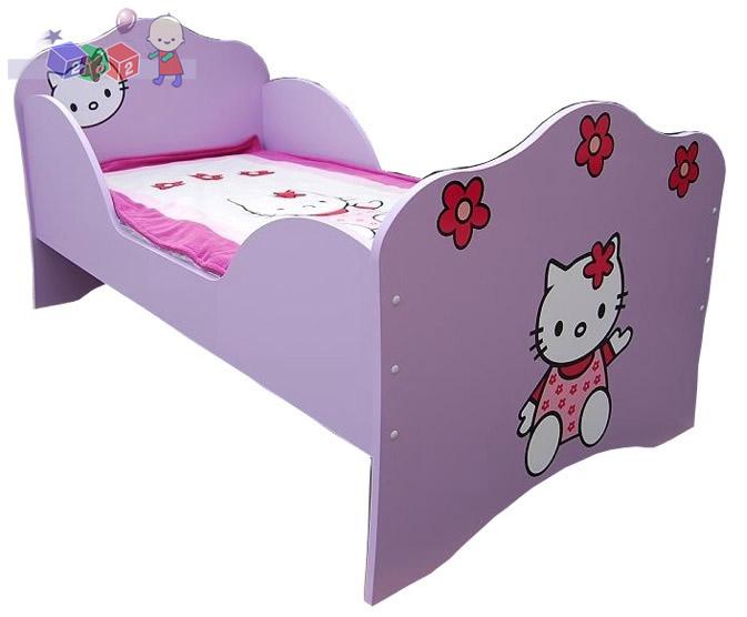 Łóżko dziecięce kotek powiększone  184x102x98