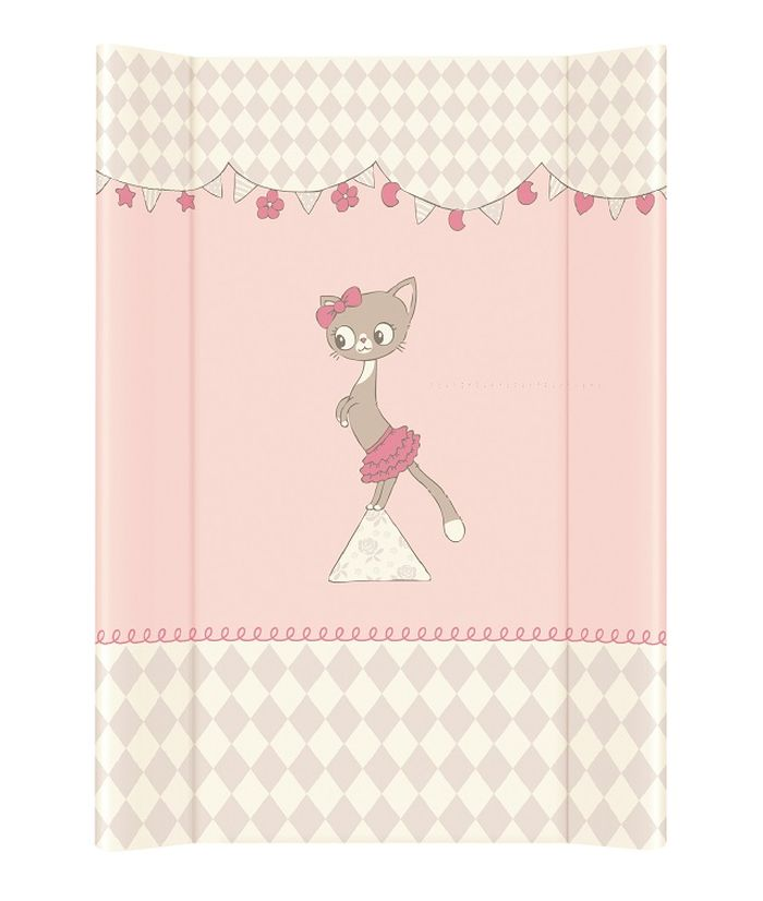 Nadstawka krótka bez zagłówka przewijak 70x50 cm Ceba Baby_Kotki różowy
